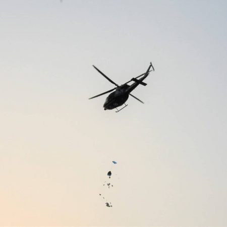 SkyLIFE airdrop from helicopter